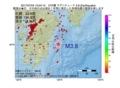 地震震源マップ:2017年07月04日 15時04分 日向灘 M3.8