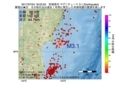 地震震源マップ:2017年07月04日 18時22分 宮城県沖 M3.1