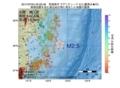 地震震源マップ:2017年07月04日 23時22分 宮城県沖 M2.5