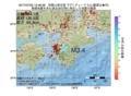 地震震源マップ:2017年07月05日 13時48分 和歌山県北部 M3.4