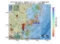 地震震源マップ:2017年07月06日 16時05分 福島県沖 M3.9