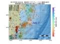 地震震源マップ:2017年07月06日 16時54分 福島県沖 M2.7