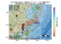 地震震源マップ:2017年07月06日 16時59分 福島県沖 M3.1