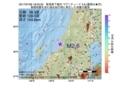 地震震源マップ:2017年07月06日 18時03分 新潟県下越沖 M2.6