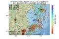 地震震源マップ:2017年07月07日 21時48分 福島県沖 M5.4