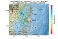 地震震源マップ:2017年07月08日 06時01分 宮城県沖 M3.1