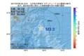 地震震源マップ:2017年07月09日 02時12分 九州地方南東沖 M3.3