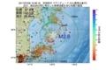 地震震源マップ:2017年07月09日 13時36分 宮城県沖 M2.6