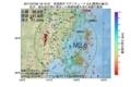 地震震源マップ:2017年07月09日 18時15分 宮城県沖 M2.8