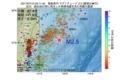 地震震源マップ:2017年07月10日 03時11分 福島県沖 M2.5