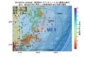 地震震源マップ:2017年07月10日 13時40分 福島県沖 M2.5