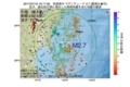 地震震源マップ:2017年07月10日 16時17分 宮城県沖 M2.7