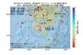 地震震源マップ:2017年07月11日 12時26分 鹿児島湾 M2.6