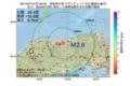 地震震源マップ:2017年07月12日 07時36分 鳥取県中部 M2.6