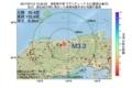 地震震源マップ:2017年07月12日 13時35分 鳥取県中部 M3.3