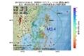 地震震源マップ:2017年07月12日 15時52分 宮城県沖 M3.4