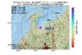 地震震源マップ:2017年07月13日 01時29分 富山県東部 M3.4