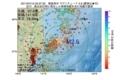 地震震源マップ:2017年07月13日 03時37分 福島県沖 M2.6