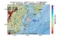 地震震源マップ:2017年07月13日 12時01分 日向灘 M3.3