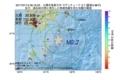 地震震源マップ:2017年07月13日 06時16分 大隅半島東方沖 M2.7