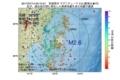 地震震源マップ:2017年07月14日 00時15分 宮城県沖 M2.6