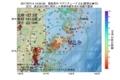 地震震源マップ:2017年07月14日 13時35分 福島県沖 M2.8
