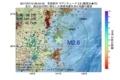 地震震源マップ:2017年07月15日 06時54分 茨城県沖 M2.6