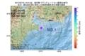 地震震源マップ:2017年07月15日 14時01分 遠州灘 M3.1