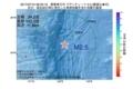 地震震源マップ:2017年07月15日 09時33分 関東東方沖 M2.5