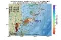 地震震源マップ:2017年07月16日 00時04分 福島県沖 M3.1
