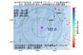 地震震源マップ:2017年07月17日 03時53分 日本海中部 M3.8