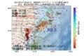 地震震源マップ:2017年07月17日 09時50分 福島県沖 M2.5