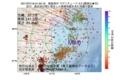 地震震源マップ:2017年07月18日 01時50分 福島県沖 M3.0