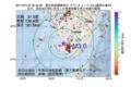 地震震源マップ:2017年07月18日 18時18分 鹿児島県薩摩地方 M3.0