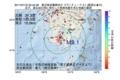 地震震源マップ:2017年07月18日 22時42分 鹿児島県薩摩地方 M3.1