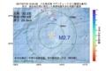 地震震源マップ:2017年07月19日 15時54分 八丈島近海 M2.7