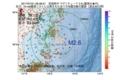 地震震源マップ:2017年07月21日 06時38分 宮城県沖 M2.6