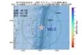 地震震源マップ:2017年07月23日 00時43分 三陸沖 M3.0