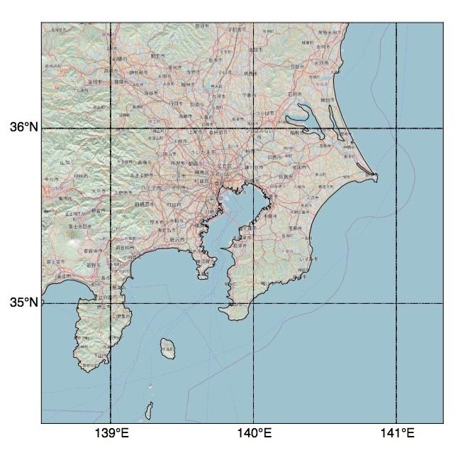 関東地方拡大地図