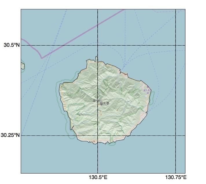 屋久島の地図