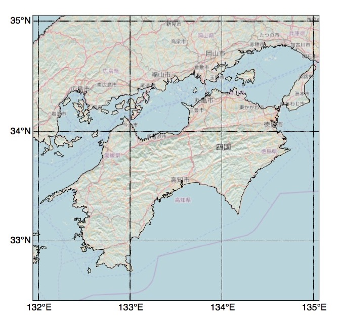 Python Basemapの背景地図をOpenStreetMapで描画してみた