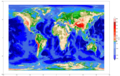 ETOPO1グローバル地形データセットで地球の全体地図を描いてみる