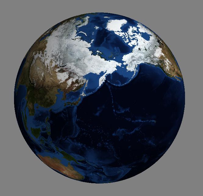 Pythonで地球儀を描いてみた