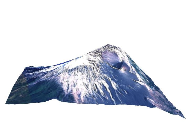 X3Dで描く富士山の立体地形図(4)