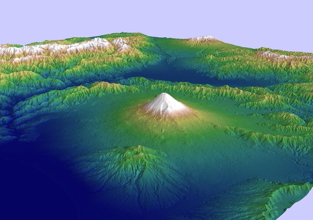 ALOS全球数値地表モデルで富士山を描いてみる(1)