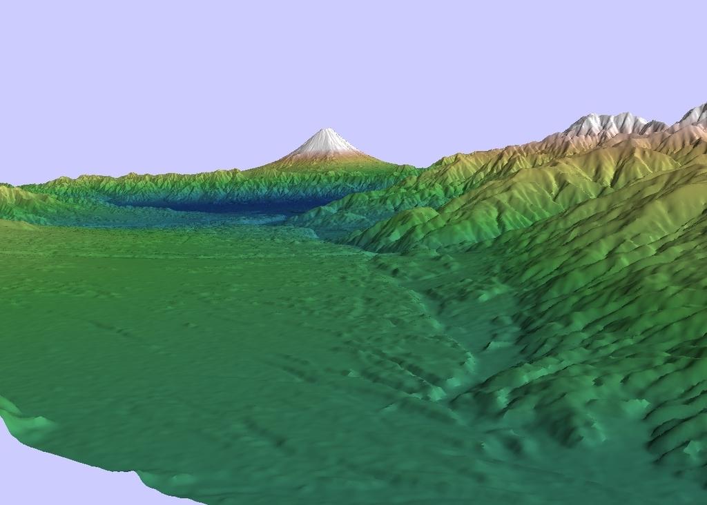 ALOS全球数値地表モデルで富士山を描いてみる(2)
