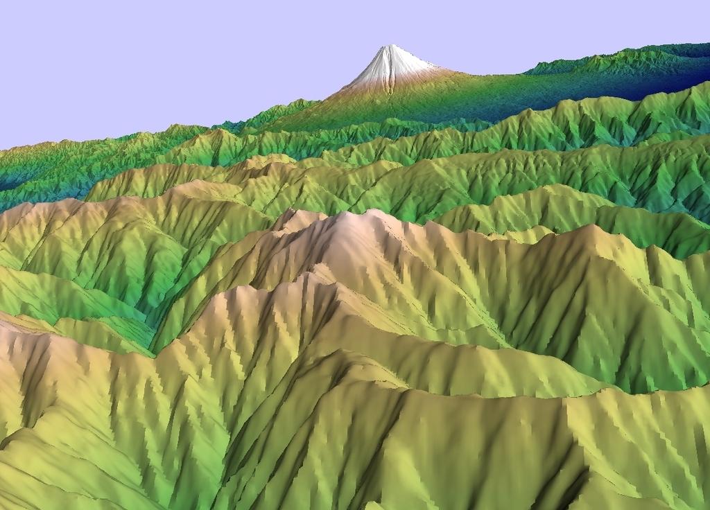 ALOS全球数値地表モデルで富士山を描いてみる(3)