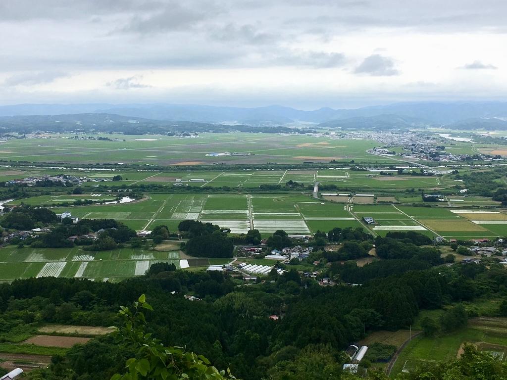 箟岳山からみる宮城県中部の田園風景