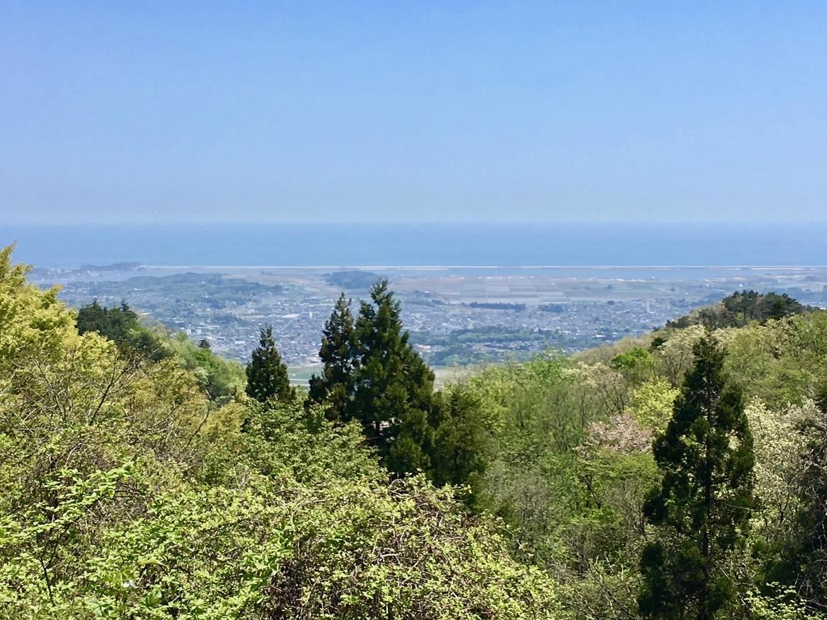 天明山から見る松川浦