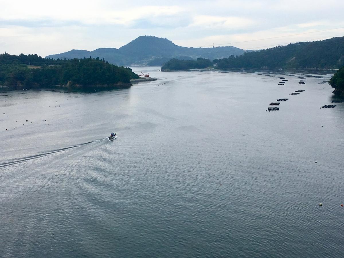 気仙沼大島大橋から望む気仙沼湾